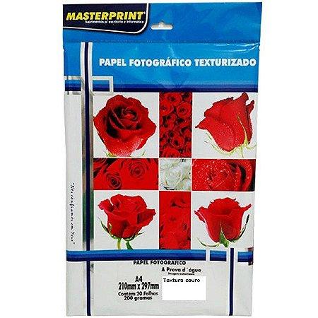 Papel Fotográfico Texturizado Masterprint A4 260g 20 Folhas