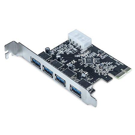 Placa PCI-E Dex com 4 Saídas USB 3.0