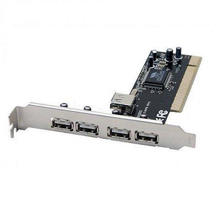 Placa PCI-E Dex com 4 Saídas USB 2.0
