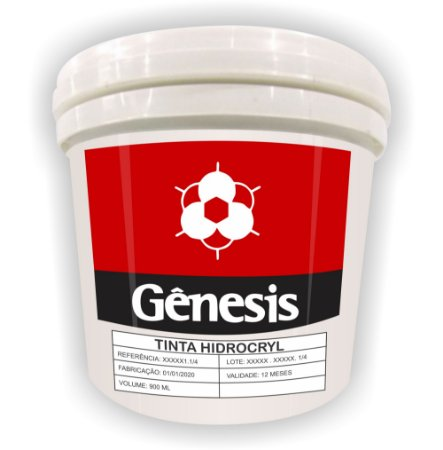 Tinta Gênesis Hidrocryl Super Metalizado 1kg