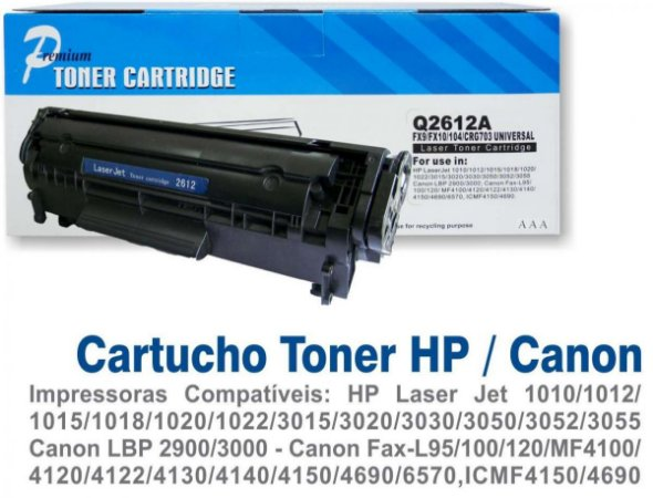 Toner masterprint HP 12A  Preto - Q2612AF compativel