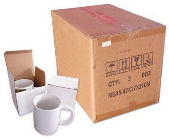 Caixa de caneca Porcelana Branca C/ caixinha (48unds)