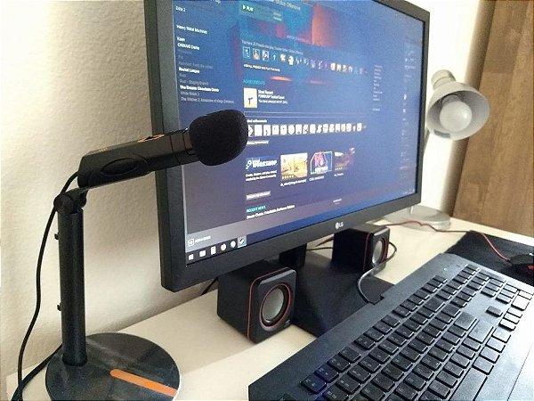Microfone De Mesa Streamer Gamer Oex