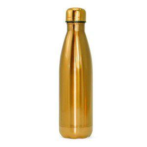 Garrafa Térmica inox 500ml Dourada
