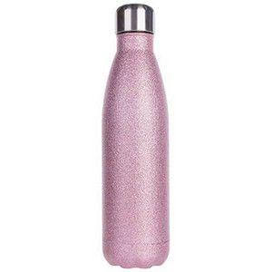 Garrafa Térmica  Glitter inox 500ml Rosa