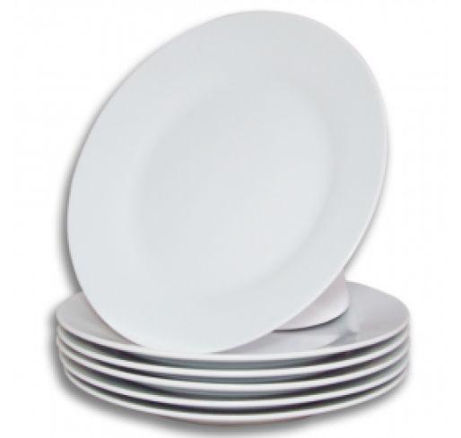 12 Pratos Porcelana para Sublimação 19cm