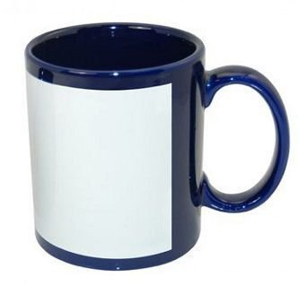Caneca Azul Tarja Branca 325ml