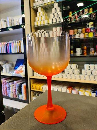 Taça Gin Degradê Cristal com Laranja