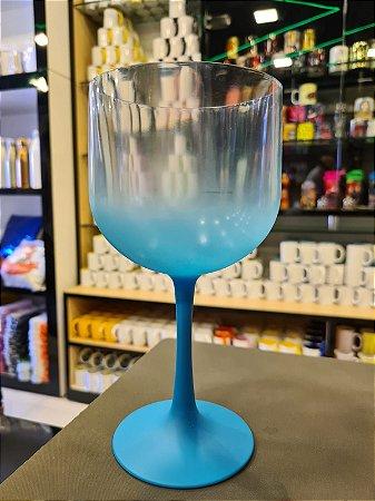 Taça Gin Degradê Cristal com Azul