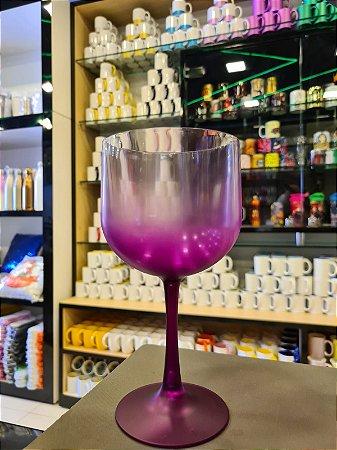 Taça Gin Degradê Cristal com Lilas