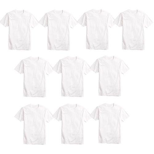 Camisa Básica Poliéster Branca TAM (M) 15UND