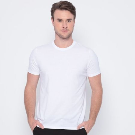 Camisa Básica Poliéster Branca TAM (M) 10 UND