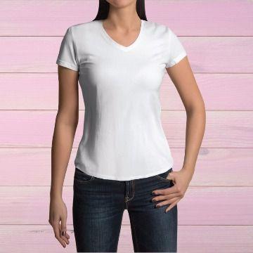 Camisa Baby Look Poliéster Branca TAM (G) 10 UND