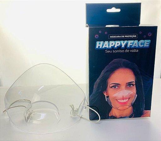 Máscara transparente happy face