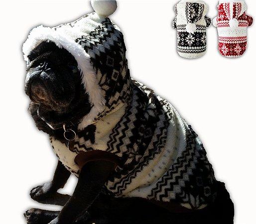 Roupa de Cachorro Inverno - Com Gorro
