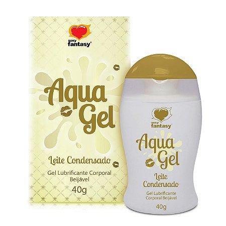 Gel lubrificante beijável Aquagel Leite Condensado - 40g