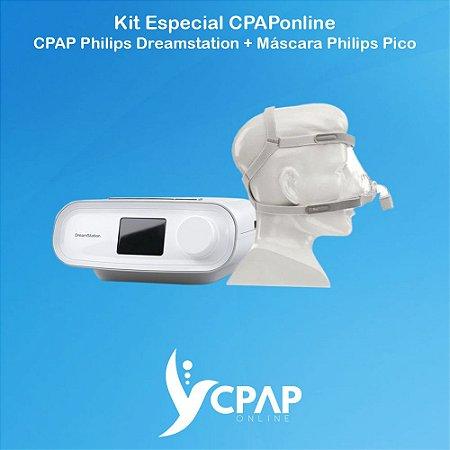 Kit CPAP Philips Dreamstation + Máscara Nasal Philips Pico
