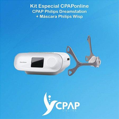 Kit CPAP Philips Dreamstation + Máscara Nasal Philips Wisp