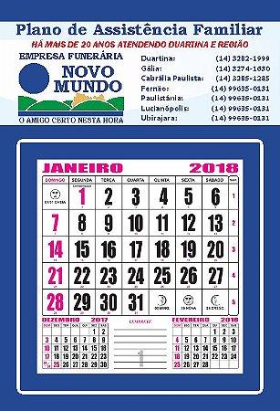 Folhinha Comercial de Parede - 2019. 500 unidades.