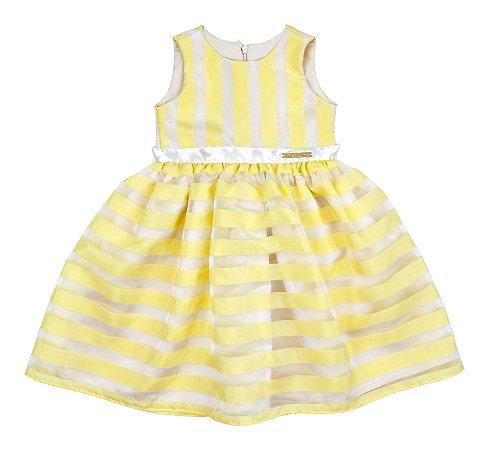 1163f0f5d3 Vestido Infantil Festa Amarelo – Comprar Online
