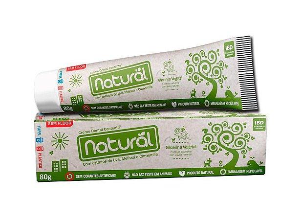 Pasta de Dente Natural Orgânica Sem Flúor Contente Suavetex 80g