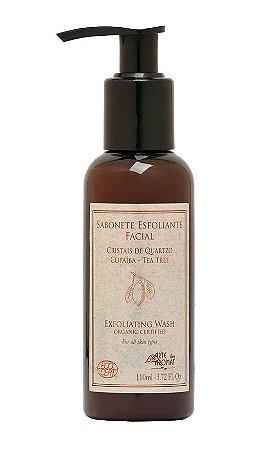 Sabonete Líquido Esfoliante Facial Orgânico c/ Cristais de Quartzo Arte dos Aromas Ecocert