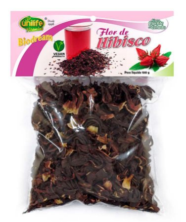 Chá de Hibisco Flor Desidratada Unilife 100g