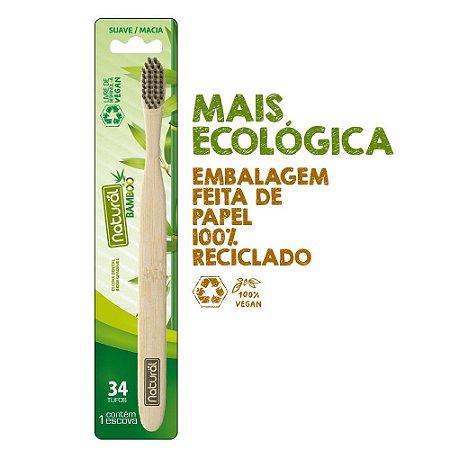 Escova de Dente de Bambu Orgânico Natural