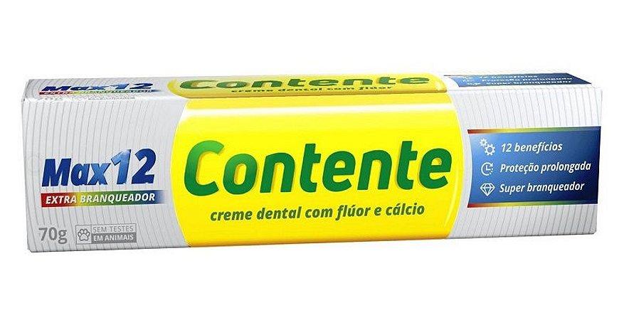 Pasta de Dente Vegana Contente Max 12 Branqueadora - 70g