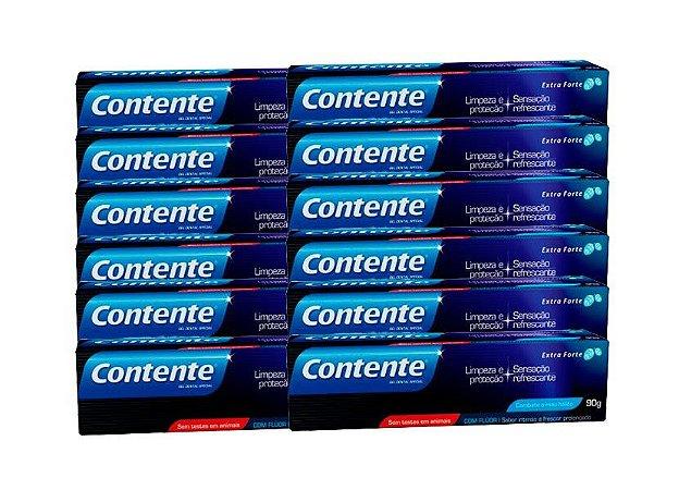 Pasta de Dente Vegana Contente Extra Forte 90g - Kit Leve 12 Pague 11