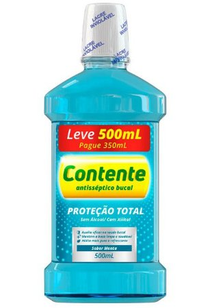 Enxaguante Bucal Contente Extra Forte - Leve 500ml Pague 350ml