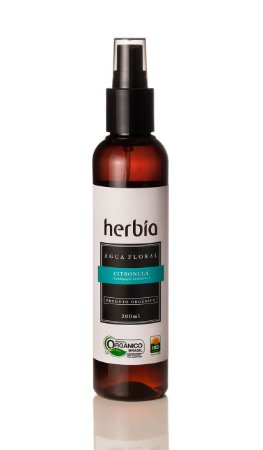 Água Floral - Hidrolato Orgânico de Citronela Herbia 200ml