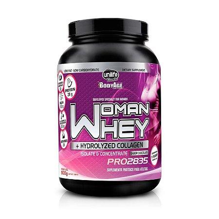 d349ec445 Proteína Feminina Woman Whey Protein com Colágeno Unilife 900g