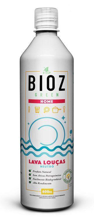 Detergente Natural Lava Louças BIOZ Green - Neutro - 600ml