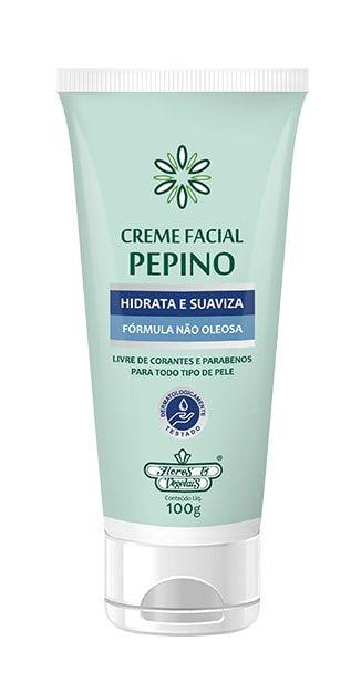 Creme Hidratante Facial Vegano Pepino Flores & Vegetais 100g