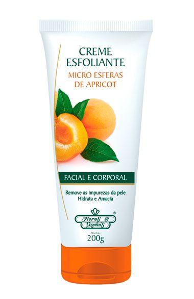 Esfoliante Corporal e Facial Apricot - Flores & Vegetais 200g