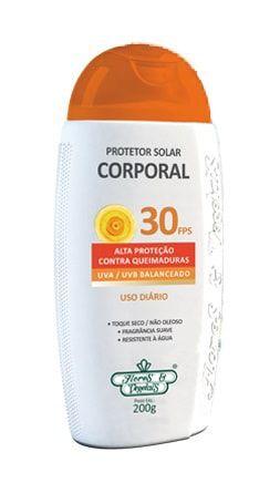 Protetor Solar Corporal Vegano FPS 30 Flores & Vegetais 200g