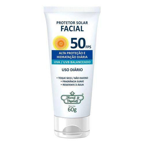 Protetor Solar Vegano Para o Rosto FPS 50 Flores & Vegetais 60g