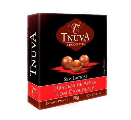 Drágeas de Avelã com Chocolate Vegano Tnuva 50g
