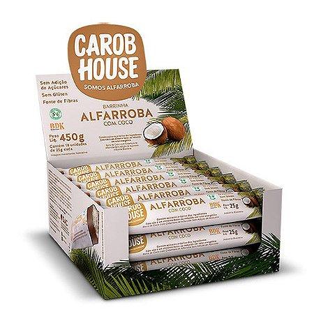 Alfarroba com Coco Carob House 25g - Caixa com 18 unidades