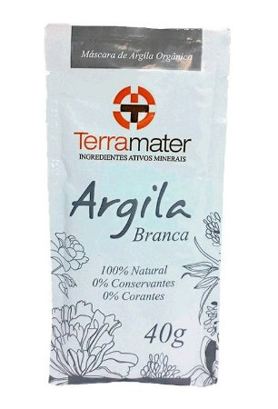 Argila Branca Orgânica Terramater - Equilíbrio 40g