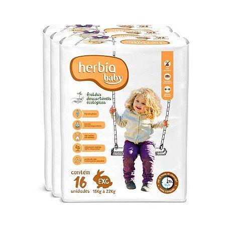 Kit Fralda Ecológica Descartável Herbia Baby EXG - 48 unidades