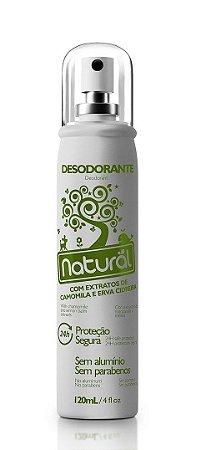 Desodorante Natural Spray Camomila e Erva Cidreira Contente Suavetex 120ml