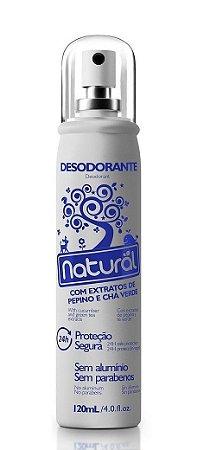 Desodorante Natural Spray Pepino e Chá Verde Contente Suavetex 120ml