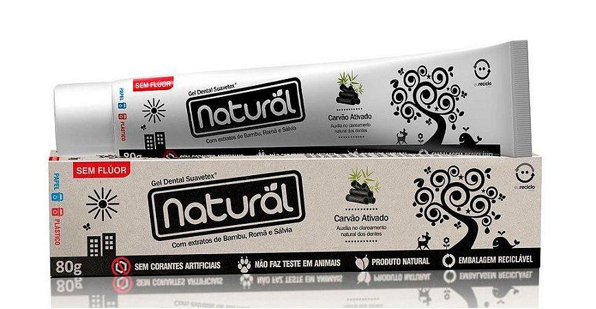 Creme Dental com Carvão Ativado Orgânico Natural 80g