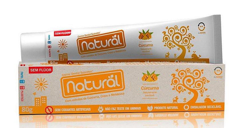 Pasta de Dente Cúrcuma Natural Contente Suavetex 80g