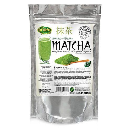 Matcha Puro Orgânico Unilfe - Sachê 30g - Chá Emagrecedor