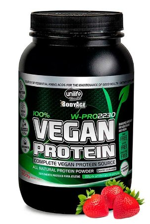 Proteína Vegana - Vegan Protein Unilife - Morango 900g