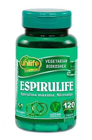 Spirulina Espirulife Unilife 120 cápsulas