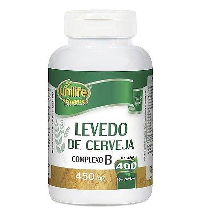 Levedo de Cerveja Complexo B Unilife - 400 Cápsulas